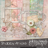 Shabby Chic Digital Scrapbook Kit ClipArt - Shabby Amore Clip Art
