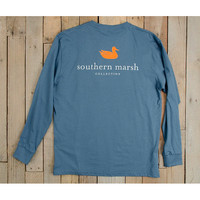 Southern Marsh Authentic Long Sleeve Tee- Slate