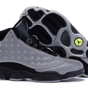 Cheap Air Jordan 13 Doernbecher Men Shoes Grey Black