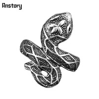 Cute Snake Rings For Women Animal Design Antique Silver Plated Fashion Jewelry Party Gift Rings
