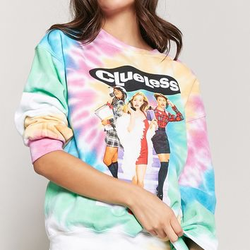 Clueless Graphic Tie-Dye Sweatshirt
