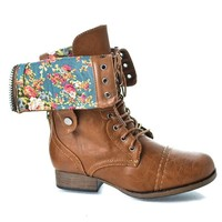 Reversible Military Inspired Lace Up Combat Boots