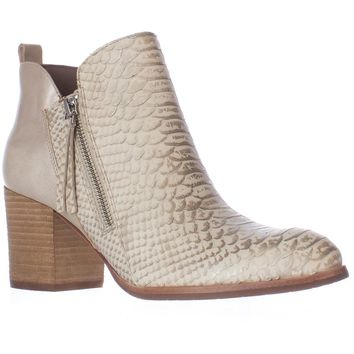 Donald J Pliner Edyn Side Zip Ankle Boots, Ivory, 5.5 US