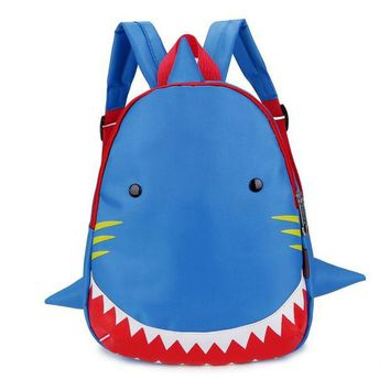 DCCKU62 Kids Backpack Animal Bag for 1-3 Years Boys and Girls Toddler Shark Bag Kindergarten Children Cartoon School Bag
