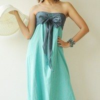 Feel So Good ...Blue Halter Maxi Cotton dress 2 Sizes Available