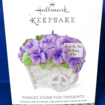 2014 Pansies Stand For Thoughts Hallmark Keepsake Ornamant