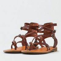 AEO Ankle Wrap Thong Sandal , Brown
