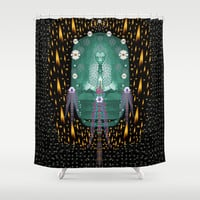 Temple of yoga in light peace and human namaste style Shower Curtain by Pepita Selles