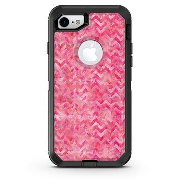 Pink Basic Watercolor Chevron Pattern - iPhone 7 or 8 OtterBox Case & Skin Kits