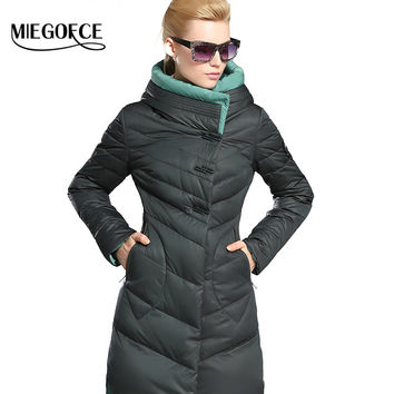 MIEGOFCE 2016 New Winter Collection Winter Women Down Coat Jacket Warm High Quality  Woman Down Parka  Winter Coat