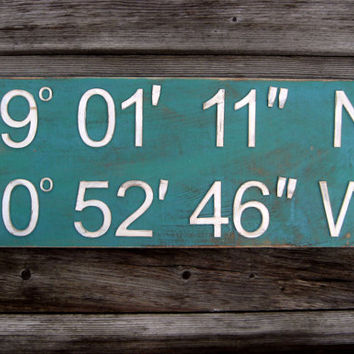 Shop Latitude Longitude Signs on Wanelo
