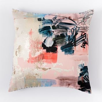 Brocade Abstract Graffiti Pillow Cover
