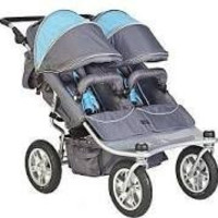Valco Baby TRU1053 Twin Tri Mode Strollers (Grey/Sky Blue)
