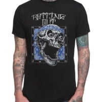 Rotting Out Skull Slim-Fit T-Shirt