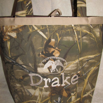 Custom Handmade max 4hd solid camo camouflage duck diaper bag you choose name FREE SHIPPING