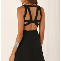 Party dresses > Plunging A-Line Dress with Geometric Cutout