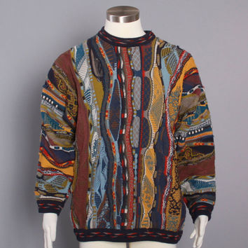 90s COOGI SWEATER Authentic Vintage / Iconic 1990s Cotton Pullover Jumper M - L