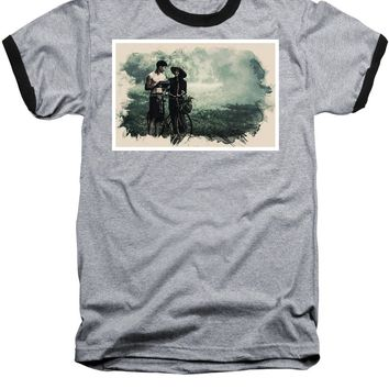 Watercolor Conseptual Landscape - Deep In The Forest - Baseball T-Shirt