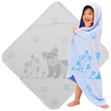 Baby & Toddler Organic Hooded Towel - Ferrets