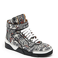 Givenchy - Tyson Paisley Leather High-Top Sneakers - Saks Fifth Avenue Mobile