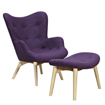 Aiden Chair Plum Purple -Natural