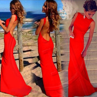 Backless Party Dress [6259292164]