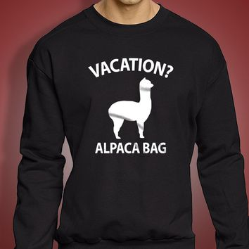 Vacation Alpaca Bag Men'S Sweatshirt