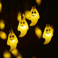 Halloween Light Outdoor Solar String Lights Ghost 30LED Christmas Lights Outdoor Halloween Decoration Outdoor