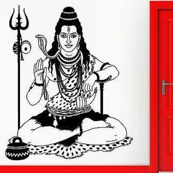 Wall Sticker Vinyl Decal India Indian God Hinduism Cool Decor Unique Gift (z2419)