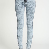 High Waisted Acid Wash Jeggings - LoveCulture