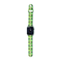 "Holly Helgeson ""Vintage Telephone"" Green Pattern Apple Watch Strap"