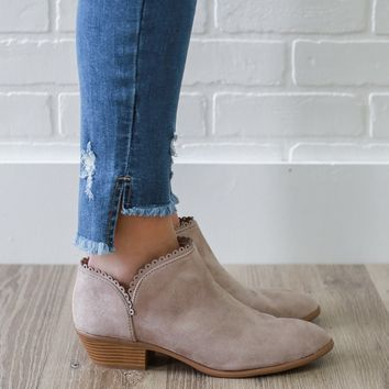 Sweet As Can Be Booties - Taupe
