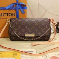 ONETOW LV Louis Vuitton Fashion Chain Crossbody Satchel Shoulder Bag