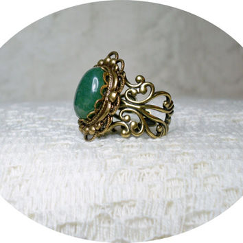 Ring - Fancy Jasper Ring - Gemstone ring - Adjustable Ring - Vintage Style Ring - Rings - Sale - Free Shipping