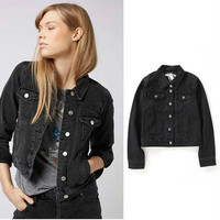 Ripped Holes Denim Winter Ladies Jacket [8895737990]