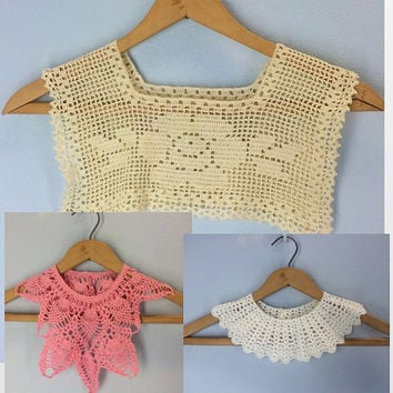 Best Vintage Crochet Collars Products On Wanelo