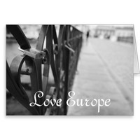 GreetingCard: European Bridge and Love Lock Greeting Card