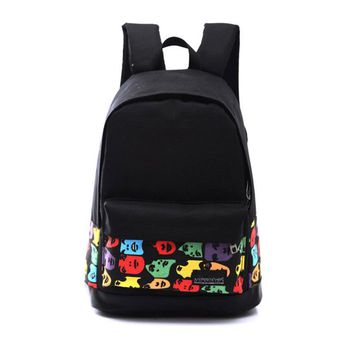 Backpack Bags For Unisex School Bag Boys Girls Unisex japan Canvas Rucksack Backpack School Book Shoulder Bag  mochilas coleg
