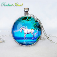 UNICORN PENDANT unicorn necklace Fantasy unicorn jewelry Gifts for Him  Jewelry  Pendant Art Gifts for Her