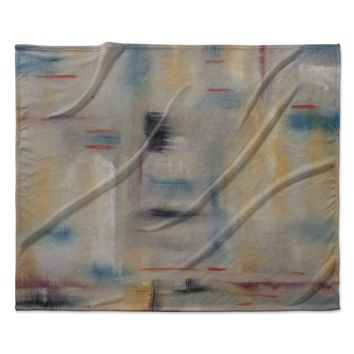 "Cathy Rodgers ""Library"" Painting Abstract Fleece Throw Blanket"