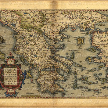 Best downloadable world map products on wanelo map of greece from 1500s ancient old world cartography exploring gumiabroncs Image collections