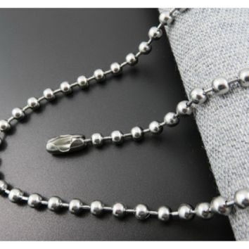 New Fashion Ball Chain Bead Stainless Steel Necklace