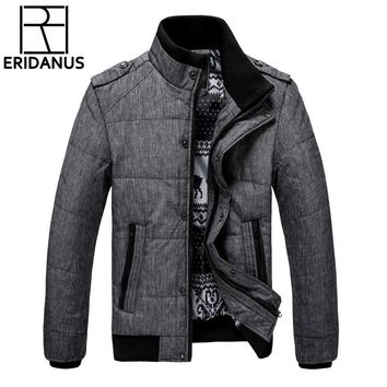 2017 New Brand Winter Warm Jacket for Men Hooded Coats Casual Mens Thick Male Slim Cotton Padded Fit Snow Cold Outerwear M468