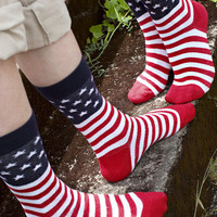 American Flag Midcalves - Sock Dreams - Unique Colorful Socks