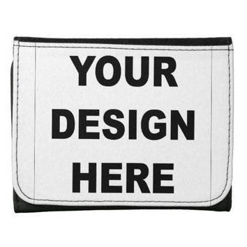 Design Your Own Custom Photo Leather Trifold Wallet