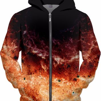 Lo-Fi Spiral Galaxy Red | Universe Galaxy Nebula Star Space Clothes | Rave & Festival Shirt