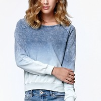 Billabong Call Out Ombre Crew Neck Sweatshirt - Womens Hoodie - Blue
