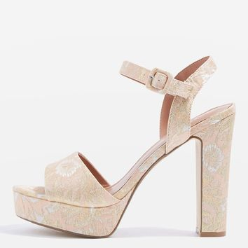MILAN Embroidered Platform Sandals | Topshop
