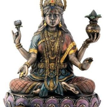Lakshmi Goddess of Luck Hindu Deity Goddess Statue - T78540