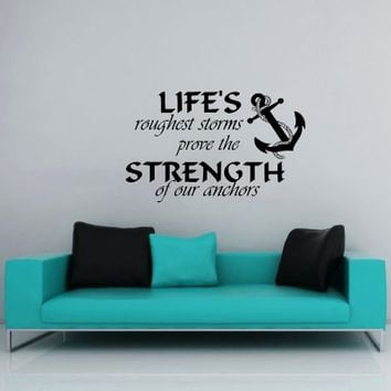 Wall Decals Nautical Anchor Symbol Quote Sign Words Quotes Kids Nursery Boys Wall Vinyl Decal Stickers Bedroom Murals